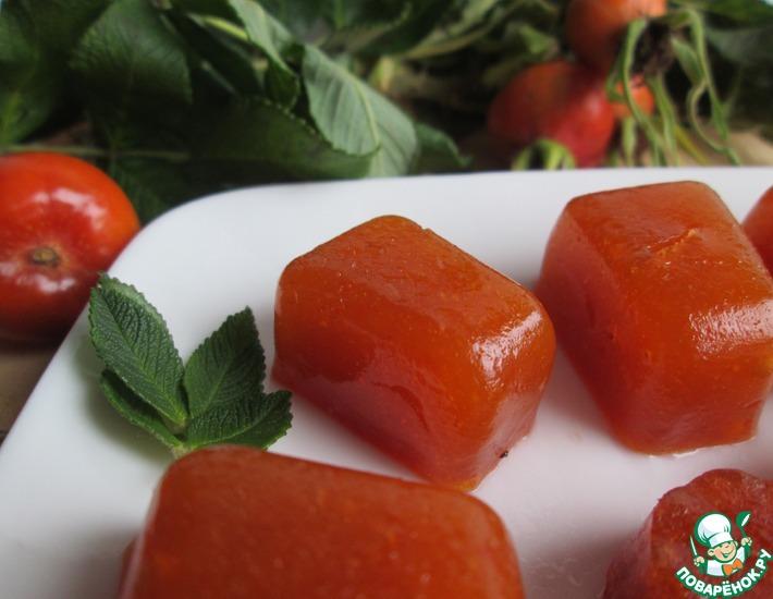 Рецепт: Конфеты из плодов шиповника