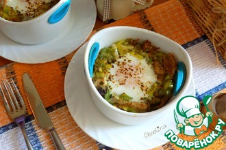 Рецепт: Индейка с яйцом, запечённые в духовке
