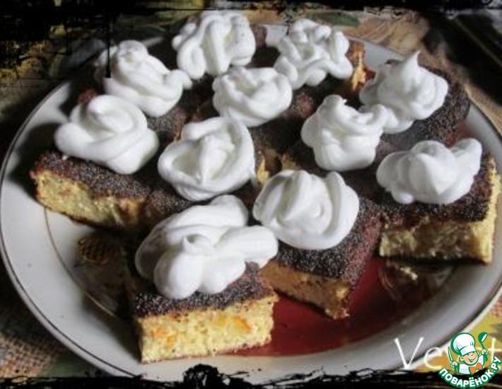 Рецепт: Апельсиновый сырник-пирог