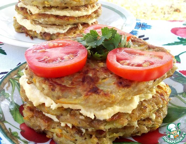 Рецепт: Кабачково-баклажанные оладьи