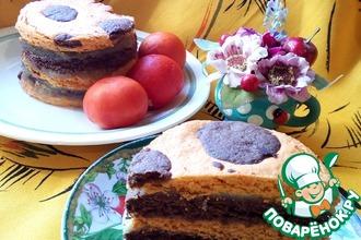 Рецепт: Томатно-шоколадное пирожное