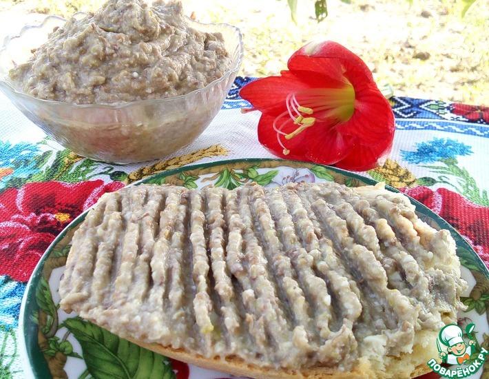 Рецепт: Паштет из чечевицы и кабачка