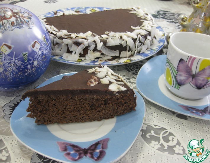 Рецепт: Шоколадный пирог Зимний вечер