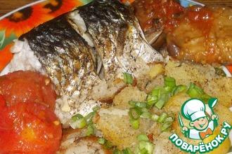 Рецепт: Рыба по-болгарски с чесноком