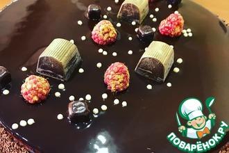 Рецепт: Торт Малиновый шоколад