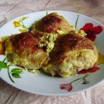 Курица в яично-горчичном маринаде