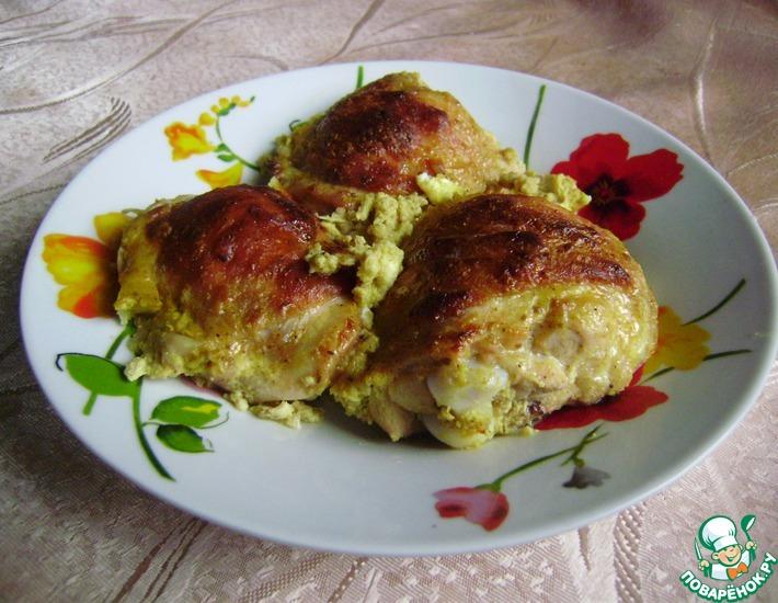 Рецепт: Курица в яично-горчичном маринаде