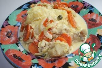 Рецепт: Фрикасе из рыбы в сливочном соусе