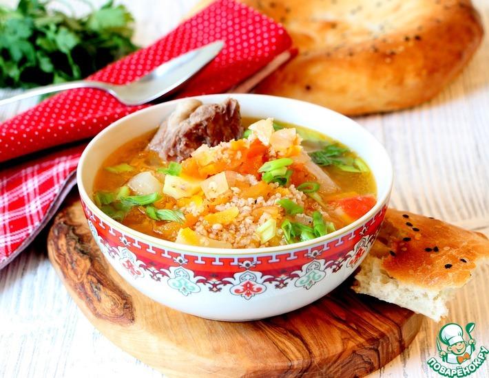 Рецепт: Суп с пшеном Сок оши