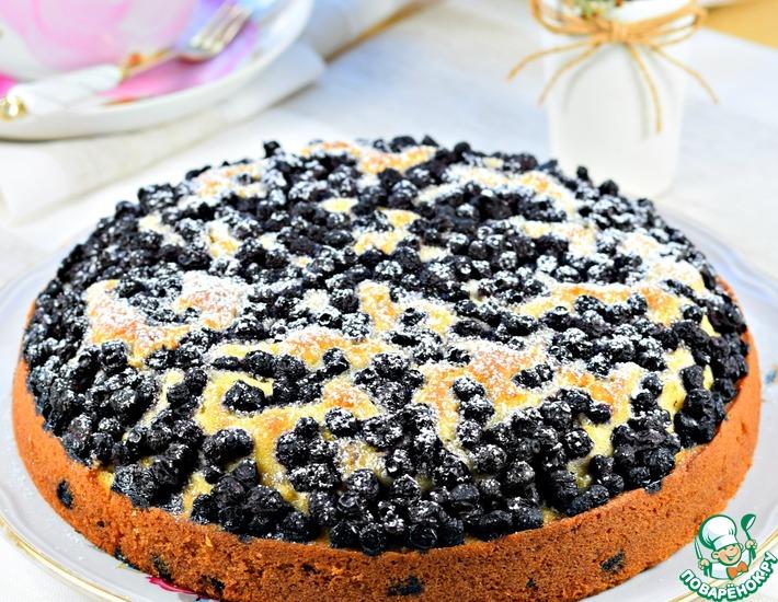 Рецепт: Пирог с черникой