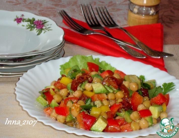 Рецепт: Салат с авокадо и нутом