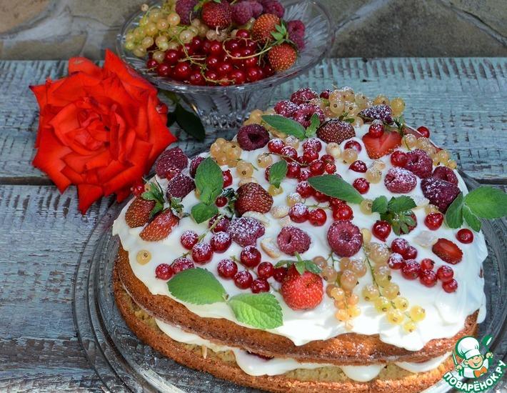 Рецепт: Легкий летний торт