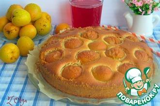 Рецепт: Абрикосовый пирог с кукурузной мукой