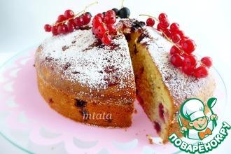 Рецепт: Пирог с красной и черной смородиной