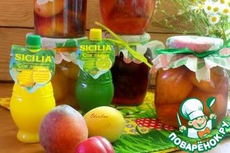 Рецепт: Фрукты в сиропе с лимонным соком