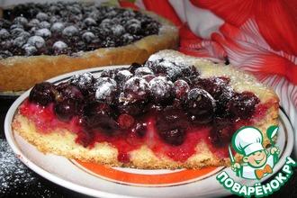 Рецепт: Песочный пирог Тёмная ягодка