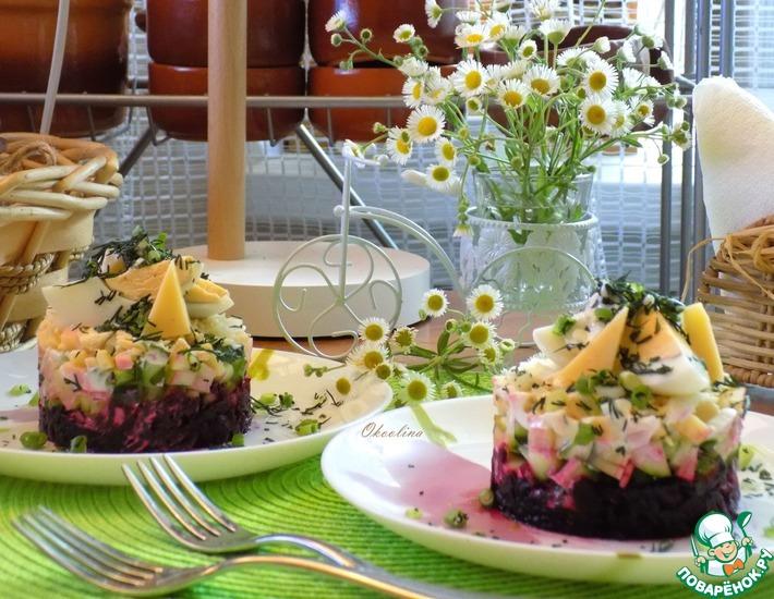 Рецепт: Салат из свёклы и свежего огурца