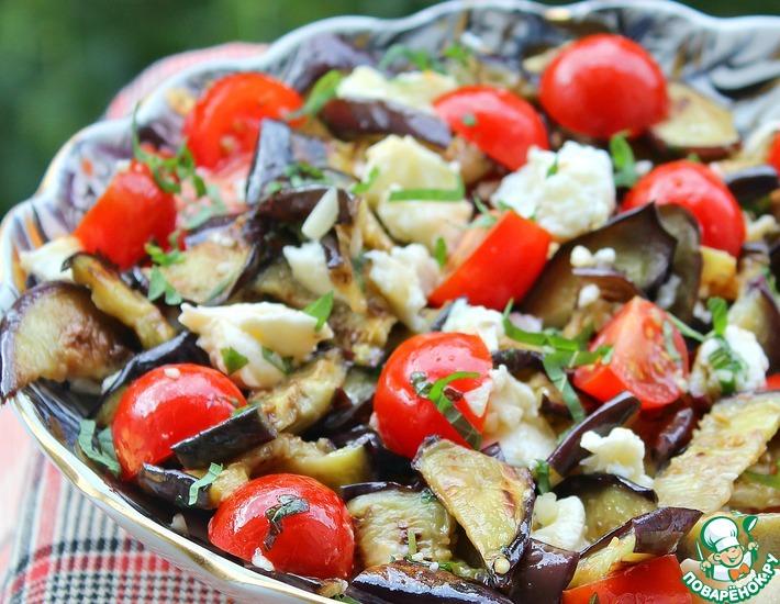 Рецепт: Сицилийский салат с баклажанами