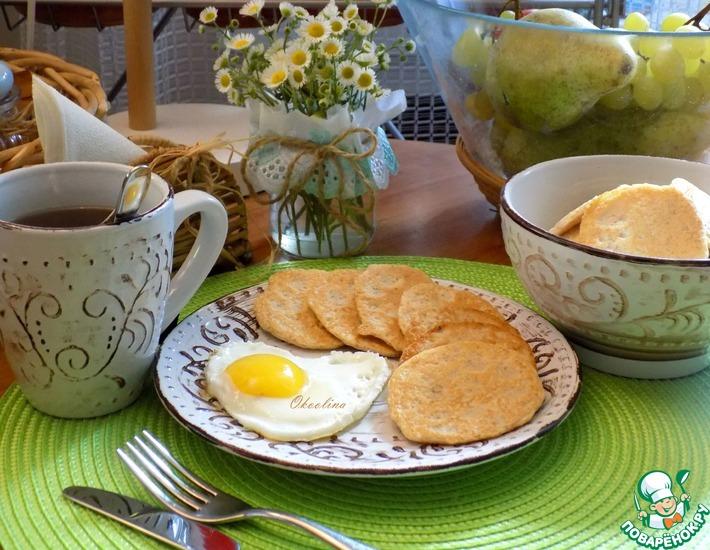 Рецепт: Оладьи к завтраку из икры сома