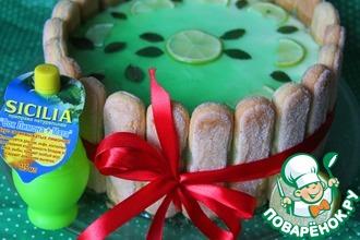 Рецепт: Торт-шарлотта Мохито