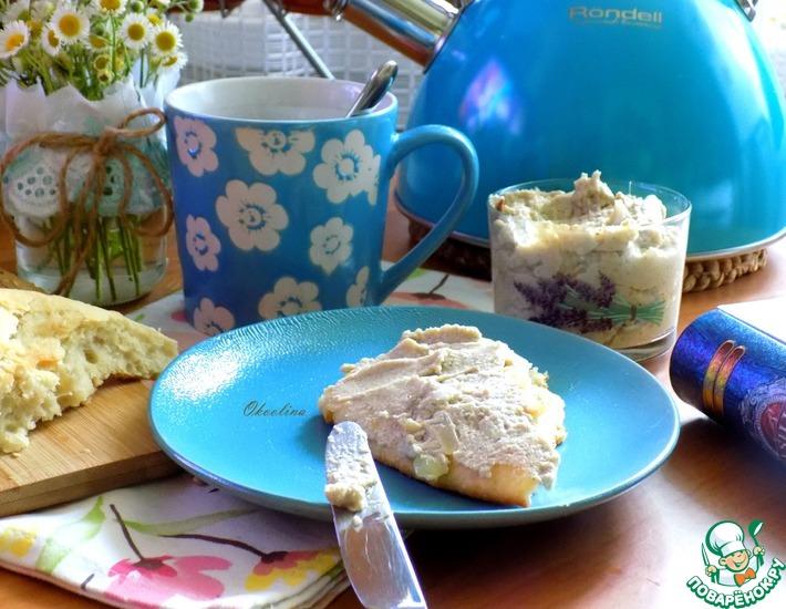 Рецепт: Паштет из печёного баклажана и яиц