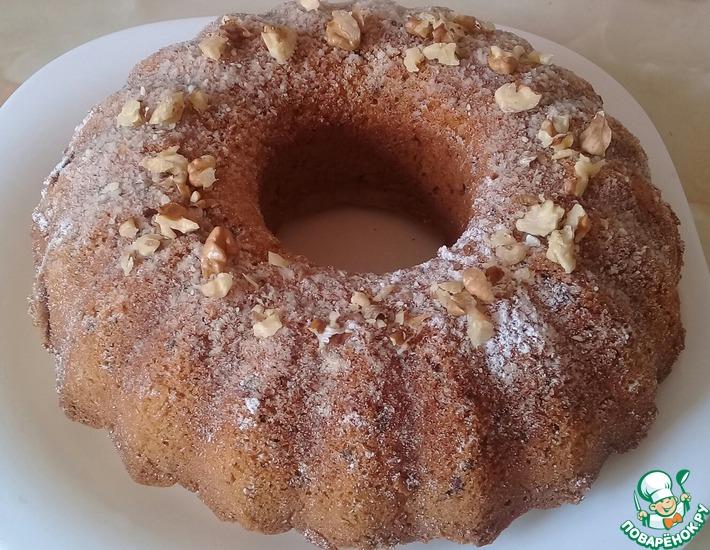 Рецепт: Воздушный ореховый кекс