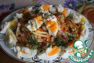 Рецепт: Яичный салат с жареной морковью