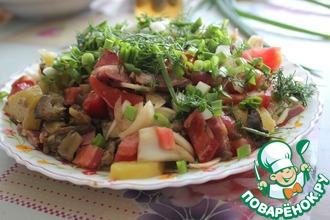 Рецепт: Пикантный картофельный салат