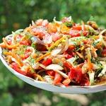 Салат с баклажанами и морковью по-корейски