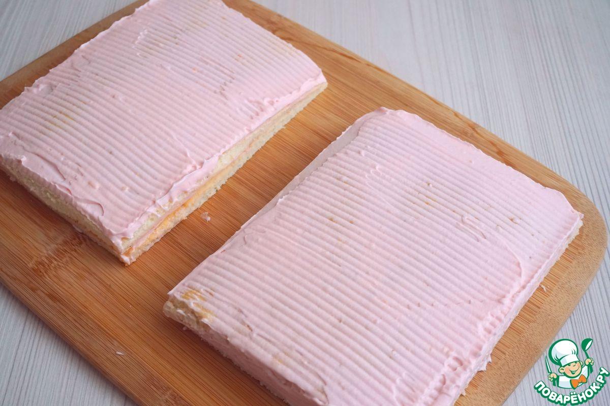"""Бисквитное пирожное """"Ванильное"""" на сметане"""