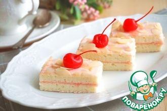 Рецепт: Бисквитное пирожное Ванильное на сметане