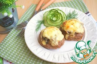 Рецепт: Мясные ватрушки с грибами и луком