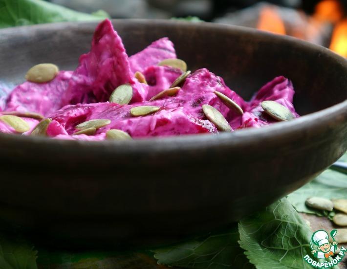 Рецепт: Салат из свеклы с хреном