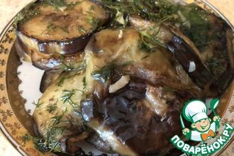 Рецепт: Баклажаны маринованные «Грибочки»