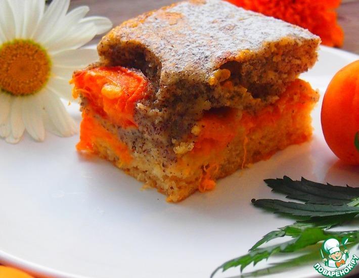 Рецепт: Абрикосовый пирог с маком и яичным ликером