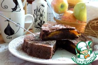 Рецепт: Шоколадно-кофейный кекс с абрикосом