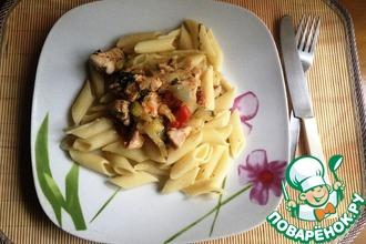 Рецепт: Паста с курицей и овощами