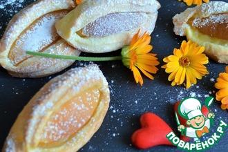 Рецепт: Печенье с абрикосом Поцелуйчик