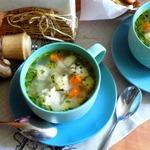 Суп с куриными фрикадельками