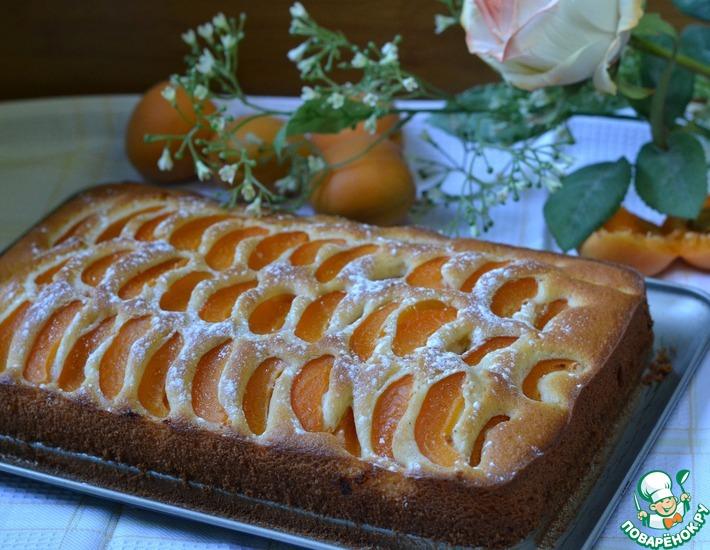 Рецепт: Простой пирог с абрикосами