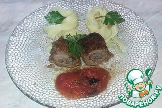 Рецепт: Мясные рулетики Боккончини