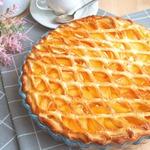 Дрожжевой пирог с творогом и абрикосами