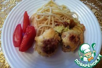 Рецепт: Фрикадельки в нежном кабачковом суфле