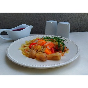 Нежный жареный картофель с овощами