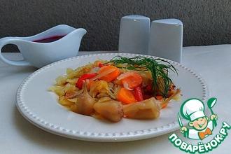 Рецепт: Нежный жареный картофель с овощами