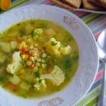 Суп с горохом и цветной капустой