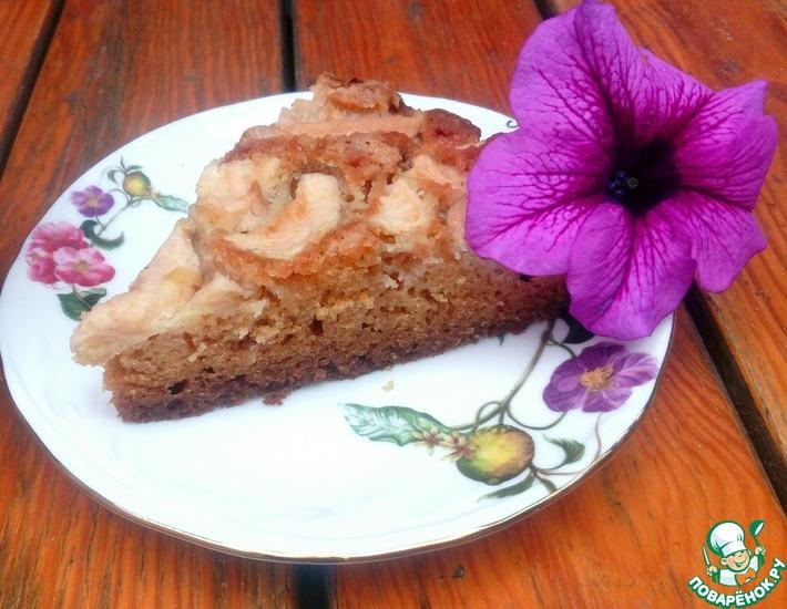 Рецепт: Творожный пирог с яблоками