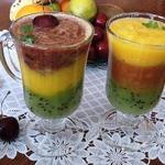Многослойный фруктово-ягодный десерт