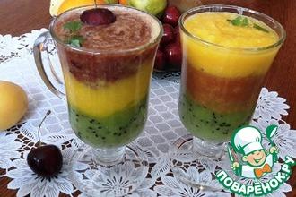 Рецепт: Многослойный фруктово-ягодный десерт