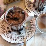 Бисквитный шоколадный кекс из СВЧ